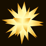 Moravian (multi-pointed) Christmas star. Multi-pointed Xmas star in warm gold and brown tones. Easy color exchange with 4 global colors, shading with blends and Royalty Free Stock Photography