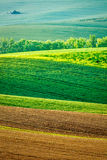 Moravian rolling landscape Royalty Free Stock Photography