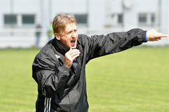 Moravian-Silesian League, football coach Machala Stock Photos