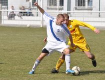 Moravian-Silesian League, footballer R. Grussmann Royalty Free Stock Photography