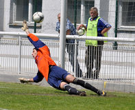 Moravian-Silezische Liga, voetbalkeeper Stock Foto