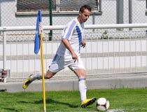 Moravian-Silezische Liga, voetballer Boris Forster Royalty-vrije Stock Fotografie