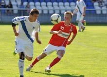 Moravian-Silezische Liga, voetballer Erik Talian Stock Afbeeldingen