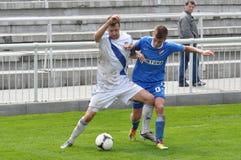 Moravian-Silezische Liga, voetballer Hynek Prokes Stock Fotografie