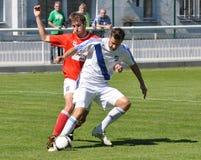 Moravian-Silezische Liga, voetballer Hynek Prokes Royalty-vrije Stock Foto's