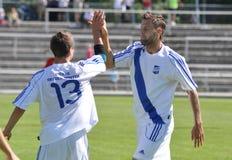 Moravian-Silezische Liga, voetballer Hynek Prokes Stock Afbeeldingen