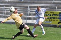 Moravian-Silezische Liga, voetballer Jiri Prokes Royalty-vrije Stock Foto's