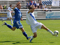 Moravian-Silezische Liga, voetballer Jiri Prokes Stock Foto's