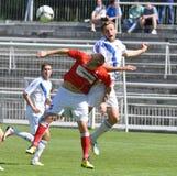 Moravian-Silezische Liga, voetballer Jiri Prokes Stock Afbeeldingen