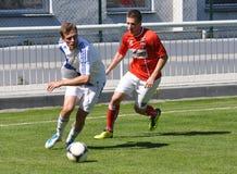 Moravian-Silezische Liga, voetballer Jiri Prokes Stock Fotografie
