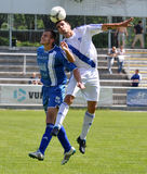 Moravian-Silezische Liga, voetballer M. Schustrik Royalty-vrije Stock Afbeeldingen