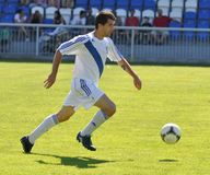Moravian-Silezische Liga, voetballer M. Schustrik Royalty-vrije Stock Afbeelding