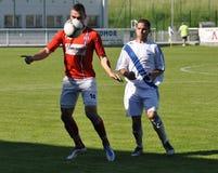 Moravian-Silezische Liga, voetballer Martin Cesnek Royalty-vrije Stock Afbeeldingen