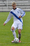 Moravian-Silezische Liga, voetballer Matej Biolek Royalty-vrije Stock Afbeeldingen