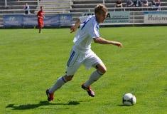 Moravian-Silezische Liga, voetballer Matej Biolek Stock Foto's
