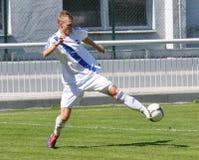 Moravian-Silezische Liga, voetballer Matej Biolek Royalty-vrije Stock Foto