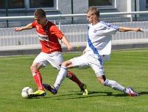 Moravian-Silezische Liga, voetballer Matej Biolek Stock Afbeelding