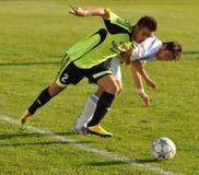 Moravian-Silezische Liga, voetballer O. Kostorek Royalty-vrije Stock Foto's