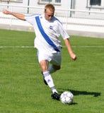 Moravian-Silezische Liga, voetballer Ondrej Byrtus Royalty-vrije Stock Foto