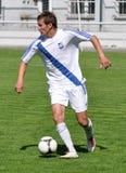 Moravian-Silezische Liga, voetballer Petr Literak Stock Foto