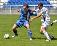 Moravian-Silezische Liga, voetballer Petr Literak Royalty-vrije Stock Afbeelding