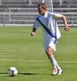 Moravian-Silezische Liga, voetballer Petr Literak Royalty-vrije Stock Foto