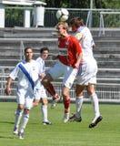 Moravian-Silezische Liga, voetballer Petr Literak Royalty-vrije Stock Afbeeldingen