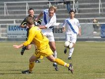 Moravian-Silezische Liga, voetballer Petr Soukup Stock Fotografie