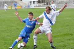 Moravian-Silezische Liga, voetballer Petr Soukup Royalty-vrije Stock Foto's