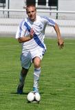 Moravian-Silezische Liga, voetballer R. Grussmann Royalty-vrije Stock Foto's