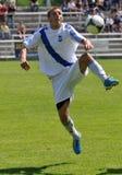 Moravian-Silezische Liga, voetballer R. Grussmann Royalty-vrije Stock Foto