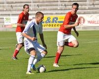 Moravian-Silezische Liga, voetballer R. Grussmann Stock Fotografie