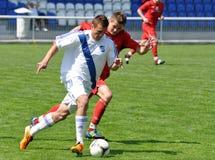 Moravian-Silezische Liga, voetballer S. Molnar Stock Afbeeldingen