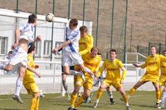 Moravian-Silezische Liga, voetballers van Frydek Stock Fotografie