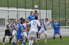Moravian-Silezische Liga, voetballers van Frydek Royalty-vrije Stock Afbeeldingen