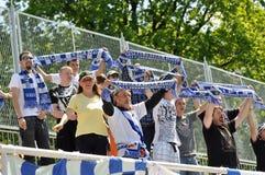 Moravian-Silezische Liga, voetbalventilators Royalty-vrije Stock Fotografie