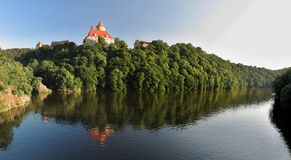 Moravian slott Veveri Fotografering för Bildbyråer