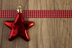 Moravian star red Stock Photo