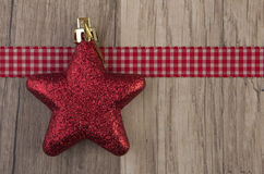 Moravian star red Stock Image