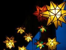Moravian stjärnor på natten Arkivfoto