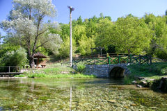 Moravica fount. Soko spa resort Serbia Royalty Free Stock Photos