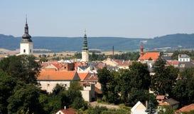 Moravska Trebova - opinião da cidade Fotos de Stock Royalty Free