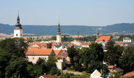 Moravska Trebova - Stadtansicht Lizenzfreie Stockfotos
