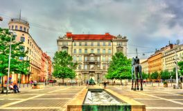 Moravske Namesti,一个正方形在布尔诺,捷克 免版税库存图片