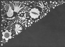 Morawscy lud ornamenty na chalkboard obraz stock