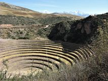 Moray agricultural terraces, Sacred Valley, Peru Royalty Free Stock Images