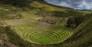 Moray Archaeological Site. This its the beautiful Moray archaeological sit of Moray, Peru Royalty Free Stock Photos