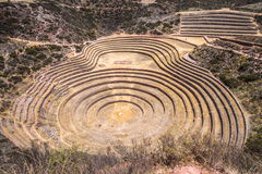 Moray, an archaeological site near Cusco, Peru Royalty Free Stock Image