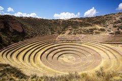 Moray, Cusco, Peru. Agricultural terraces at Moray, Cusco, Peru Stock Photo
