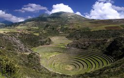 Moray del panorama perú imagenes de archivo